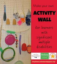 Make your own activity wall for learners with significant multiple disabilities.