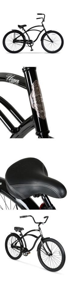 bicycles: Hyper Mens Beach Cruiser Bike Light Weight Alloy Wheels Cycling Black 26 In New -> BUY IT NOW ONLY: $126.06 on eBay!