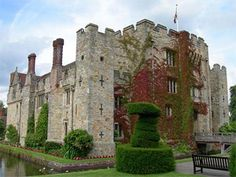 Hever Castle: Anne grew up in Hever Castle in Kent, England. Her bedroom was very small, and tourists to the castle can see the headboard of her bed propped up against the wall.