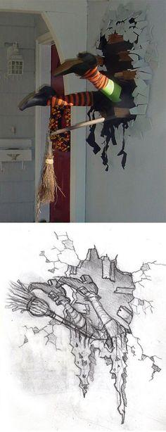 DIY Halloween Dekoration: Hexen-Unfall ;)