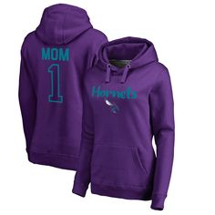 Charlotte Hornets Fanatics Branded Women's Plus Sizes Number 1 Mom Pullover Hoodie - Purple
