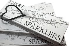 Heart-shaped sparklers for weddings & romantic occasions. So beautiful! Love them!  :)