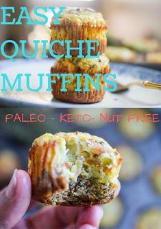 Easy Quiche Muffins (Keto, Paleo, Nut Free) • The Castaway Kitchen