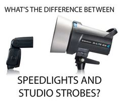 How studio strobes and speedlight flashguns compare, to help you decide which would be the most suitable off-camera lighting source for your photography.