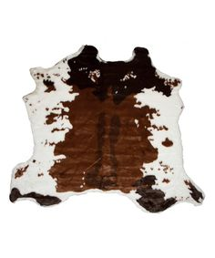 Look what I found on #zulily! Chocolate & White Faux Hide Rug/Throw by Luxe Faux Fur #zulilyfinds