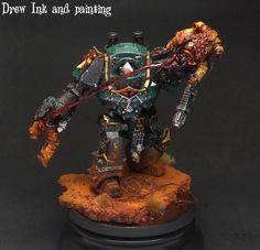 Sons of Horus Contemptor Dreadnought by Drew ink and painting