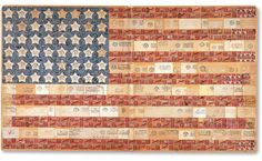 This one-of-a-kind flag assemblage, from Kit Hinrichs' vast Stars & Stripes collection, was designed by the quartermaster of a U.S. military...