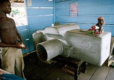 Coffins in Ghana: A coffin shaped as a camera, for someone who worked in photography industry