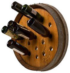 Round Wine Barrel Wine Rack contemporary wine racks