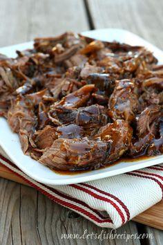 Balsamic Glazed Roast Beef (Chuck or Rount Roast, Balsamic, Soy, Honey, Red Pepper, Garlic, Brown Sugar)