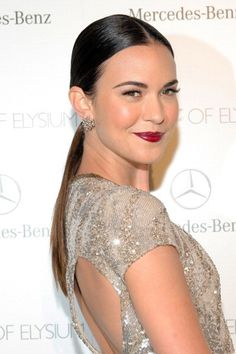 Odette Annable wearing Snowflake earrings at The Art of Elysium's 7th Annual HEAVEN Gala.