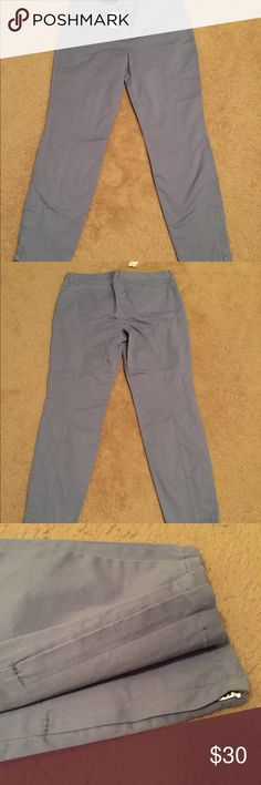 NWT Brooks Brother Pants NWT Brooks Brother Pants! Brand New size 12. Gray/Blue color. Zipper at ankles. Brooks Brothers Pants Skinny