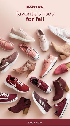 69a24a2eefd5 Find the best shoes and boots for fall at Kohl s. From cute blush Nike  sneakers