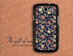 Vintage Floral Samsung Galaxy S3 i9300 Case Cover
