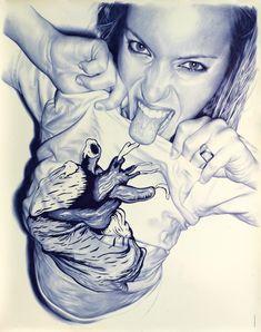 Another superb biro portrait: The designmobius - the artworks of Tom Mulliner: B photorealist/hyperrealist artists