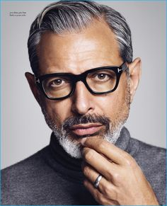 Jeff Goldblum photographed by Michael Schwartz for Icon El País. Glasses are a sexy business.
