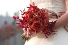 fall centerpieces and bouquets :  wedding bouquet centerpieces fall Fall Roses Leaves