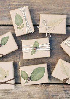 wrapped favors