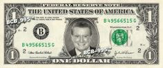 Regis Philbin on REAL Dollar Bill - $1 Celebrity Bill Custom Cash Money