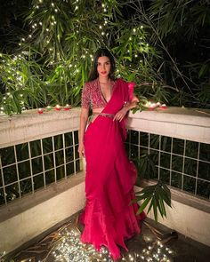 Desi Wedding, Wedding Attire, Diwali Dresses, Diana Penty, Drape Gowns, Bollywood Actress, Bollywood Celebrities, Wrap Dress, Actresses