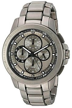 a55054ede309 Buy this New   Authentic MK8530 Michael Kors Ryker Chronograph Gunmetal Dial  Titanium Men Watch at