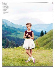 Um editorial inspirado nos pequenos prazeres do campo! Imagens bucólicas do suplemento infantil da Vogue Paris.