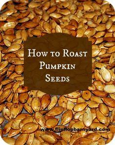 How To Roast Pumpkin Seeds   www.flipflopbarnyard.com                                                                                                                                                                                 More