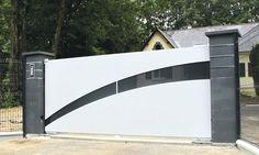 Modern Main Gate Designs, Iron Main Gate Design, Front Gate Design, House Gate Design, Door Gate Design, Garage Door Design, Gate House, House Front Design, Steel Gate Design