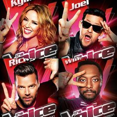 The Voice Australia 2014 coaches: Kylie Minogue, will.i.am, Joel Madden and Ricky Martin