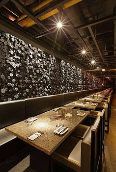 When my kids are gone I want to take my wife to nice restaurants Japanese Restaurant Design, Restaurant Interior Design, Commercial Interior Design, Cafe Interior, Restaurant Bar, Restaurant Lighting, Restaurant Concept, Luxury Restaurant, Light In