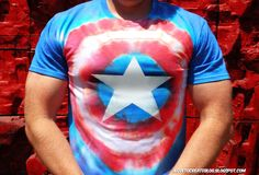 Picture of Captain America Tie Dye Avengers Shirt
