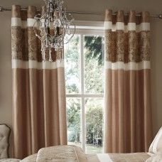 Jacquard Damask Fully Lined Ready Made Ring Top Eyelet Curtains Black Purple