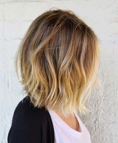 Short Hair Ombre Blonde