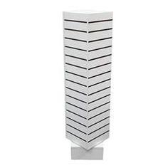 Revolving Slatwall Tower Display : [White]