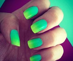 Generally, people thought nail art can be possible on long nails But actually, it's not so! Simple nail art designs for short nails are not only popular Neon Nails, Love Nails, My Nails, Gradient Nails, Ombre Nail, Galaxy Nails, Color Nails, Pink Nails, Green Nail Designs