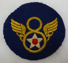 Early WW2 British Made 8th Army Air Force Patch