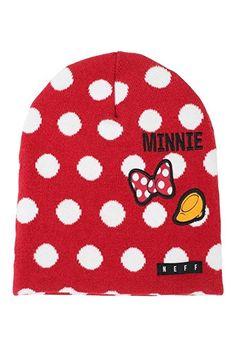 7b181833e3d NEFF Disney Big Girls  Disney Minnie Polka Dot Daily Beanie