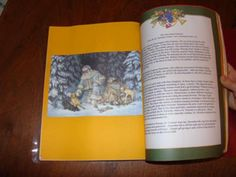 We made advent books for the relatives for Christmas, and they were a big hit.  Here's what we used:  -Clear-cover report portfolio -Fancy Christmas stationary