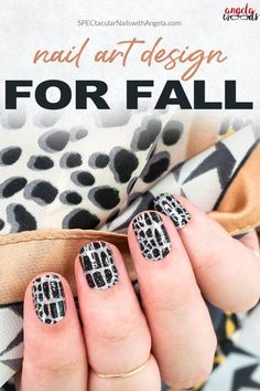 There's no excuse for your mani to be slacking this fall. For a sssensational nail look, add Hiss and Makeup's sparkly black and holographic silver reptile scale motif to your fingertips! Get salon perfect nails at home with Color Street! #fallnaildesign #easynaildesign #colorstreetnails