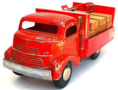 1940'S ORIGINAL SMITTY TOYS SMITH MILLER COCA COLA DELIVERY TRUCK  NO RESERVE