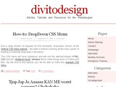 Free WordPress Theme with nice typography by DivitoDesign.