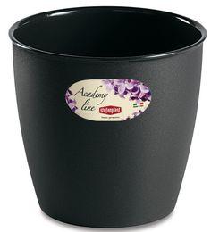 Pot ou Cache Pot Interieur et Exterieur 1.4 L ACADEMY ROND Anthracite au meilleur prix ! - LeKingStore