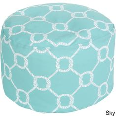 Sailors Rope Outdoor/ Indoor Decorative Cylinder Pouf | Overstock™ Shopping - Great Deals on Ottomans