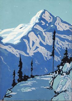 """lawrenceleemagnuson: """"Frank Hans Johnston (Canada Night Above Lake Louise (n.) tempera on card x cm """" Mountain Art, Mountain Landscape, Nature Paintings, Landscape Paintings, Landscapes, Lawrence Lee, New Year Pictures, Lake Painting, Group Of Seven"""