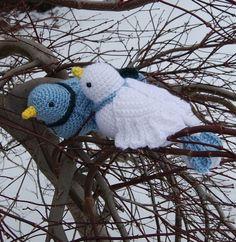 PDF Crochet Pattern Amigurumi Colombes par theitsybitsyspider