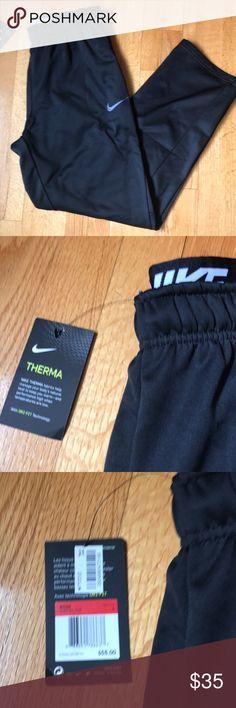 Nike men's dri-fit sweatpants Black size large men's Nike dry fit sweatpants. NWT.  100% polyester. Nike Pants Sweatpants & Joggers