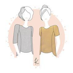 Collection de patrons de couture simples et modernes par Anne Kerdilès Couture. Patrons de couture femme au format PDF et pochette.