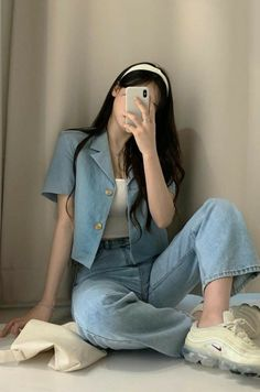 Korean Casual Outfits, Korean Outfit Street Styles, Cute Casual Outfits, Pretty Outfits, Stylish Outfits, Casual Clothes, Korean Summer Outfits, Korean Girl Fashion, Korean Fashion Trends