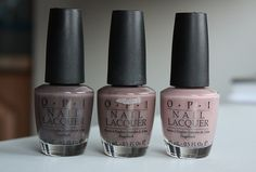 OPI nail polish - You Don't Know Jaques, Over the Taupe, Tickle my France-y