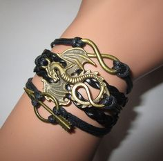 Game Of Thrones Bracelet.Khaleesi Dragon by Youchic on Etsy, $4.90